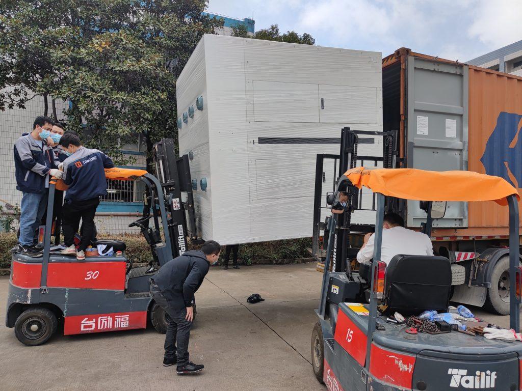Załadunek maszyny w Chinach